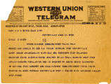 Telegram from B.L. Perry to Cyrus S. Avery, dated November 16, 1925
