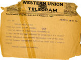 Telegram to Cyrus S. Avery and Roy Johnson from Purcell Chamber of Commerce, dated August 3, 1925