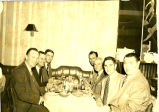 Cyrus S. Avery with a group of men