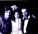 Family portrait of Cyrus Avery, Mrs. Avery and Helen Louise Avery