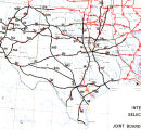 Partial map with hand drawn lines indicating U.S. 66