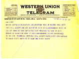 Telegram dated February 11, 1926