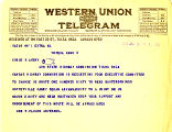 Telegram from Ben S. Paulen to Cyrus S. Avery, dated January 6, 1926