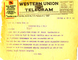 Telegram from D. N. Fink to Cyrus S.Avery, dated August 4, 1925