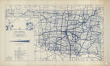 1937 Traffic Density Map of Oklahoma