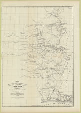 Map illustrating the plan of the defences of the western & north western frontier, as proposed...