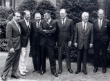 Paul Miller with President Richard M. Nixon, Wes Gallagher, Secretary of State Willam P. Rogers, Benjamin McKelway and...