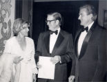 Paul Miller with Otis Chandler and Marilyn Chandler in Washington D.C., on Miller's 75th birthday