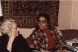 Angie Debo and Gloria Valencia-Weber. Photograph taken in the Debo home, Marshall, Ok.