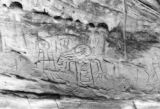 American Indian Picture writing on Rock Wall
