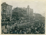 New Orleans parade with horse drawn carriages, April 27, 1906