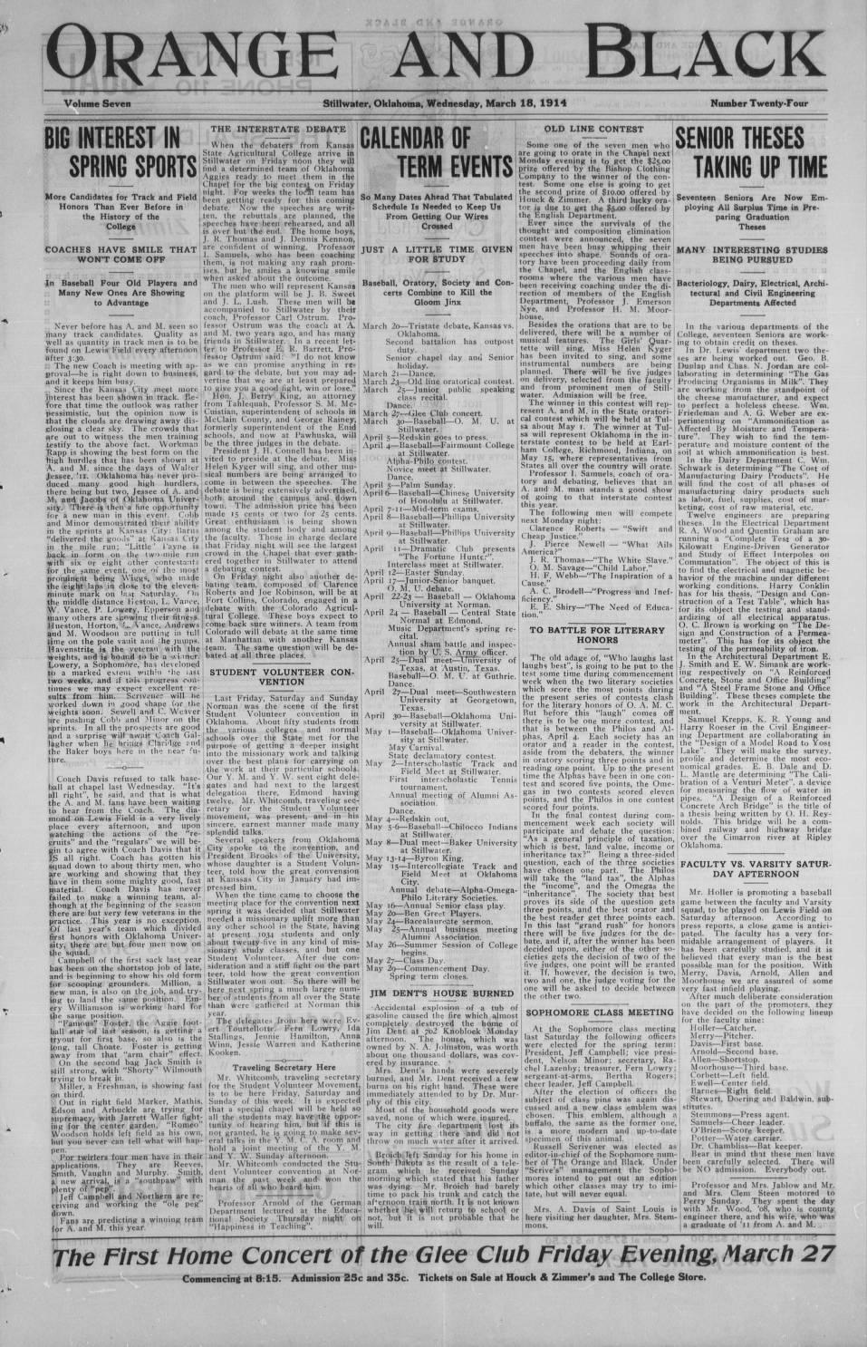 Orange , 1914-03-18 - The Daily O'Collegian - Digital