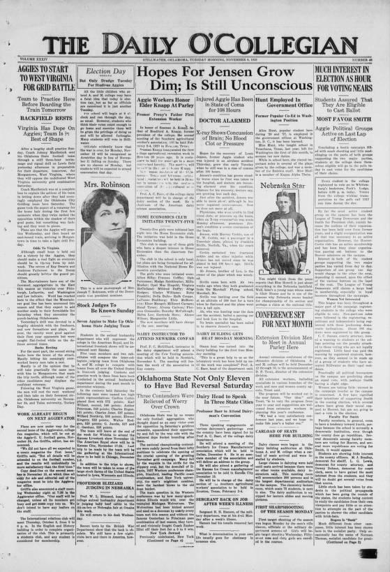 O'Collegian, 1928-11-06 - The Daily O'Collegian - Digital